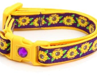Summer Sunflowers on Plum Purple - B133D134
