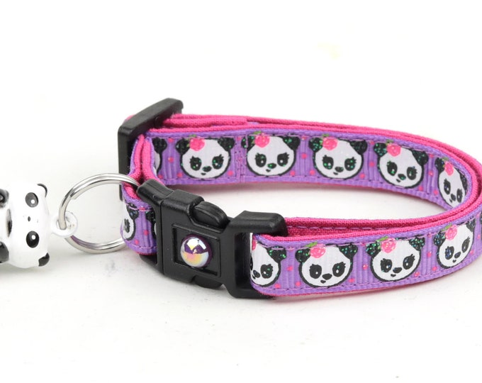 Girly Panda Bears on Purple