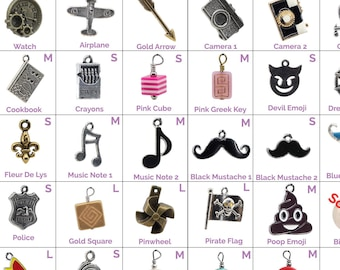 Collar Charms - Miscellaneous Charms - Mustache, Music notes, Trailers - Extra Charms for Cat Collars - Bling - Jewelry