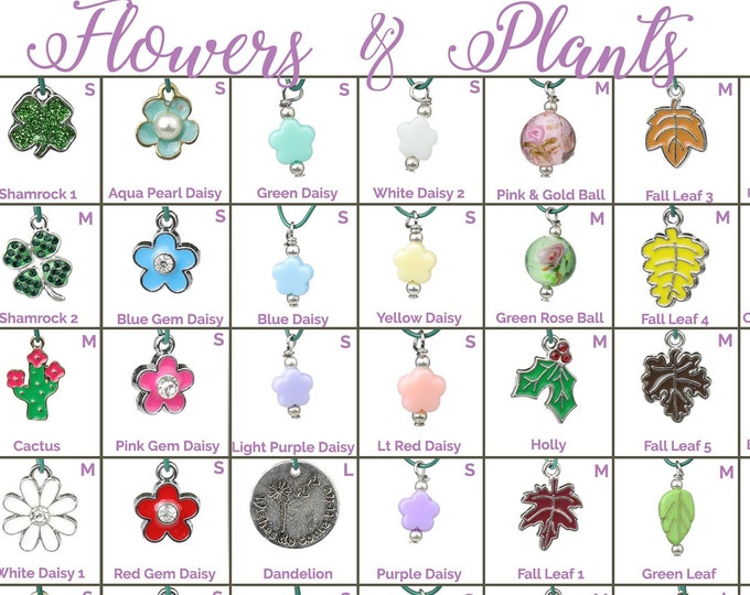 Collar Charms - Flower Charms - Plants and Florals - Extra Charms for Cat Collars - Bling - Jewelry