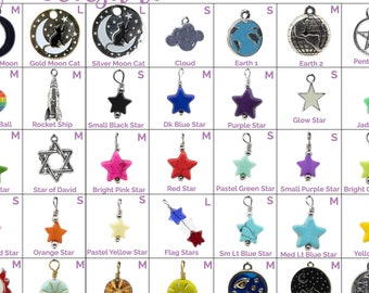 Collar Charms - Stars, Celestial, & Weather Charms  - Extra Charms for Cat Collars - Bling - Jewelry