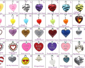 Collar Charms - Hearts & Valentines Charms - Holiday - Extra Charms for Cat Collars - Bling - Jewelry