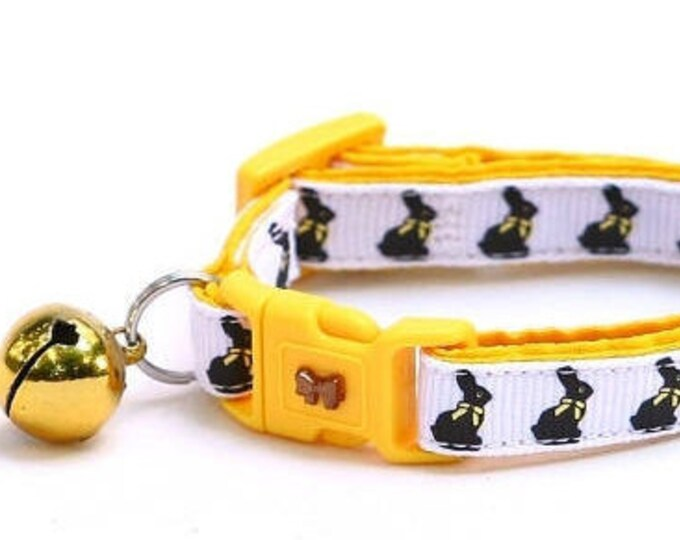 Easter Cat Collar - Chocolate Bunnies - Kitten or Large Size
