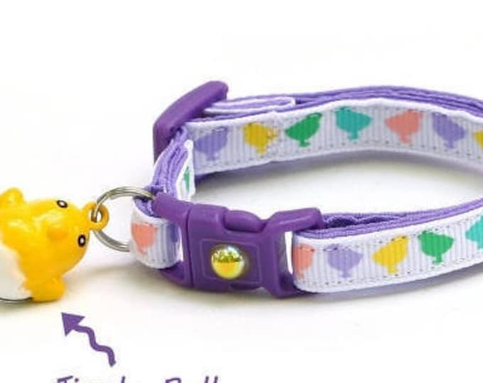 Easter Cat Collar - Cute Pastel Easter Chicks - Kitten or Large Size