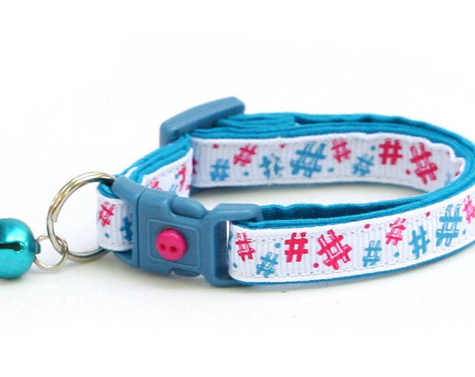 Hashtag Cat Collar - Social Media Cat - Instagram Star - Kitten or Large Size