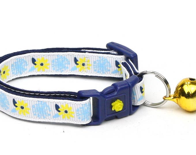 Floral Cat Collar - Dandelion Wishes - Small Cat / Kitten Size or Large Size
