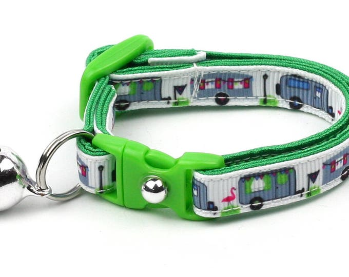 RV Cat Collar - Happy Camper - Small Cat / Kitten Size or Large Size