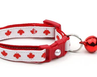 Canada Cat Collar - O Canada - Small Cat / Kitten Size or Large Size