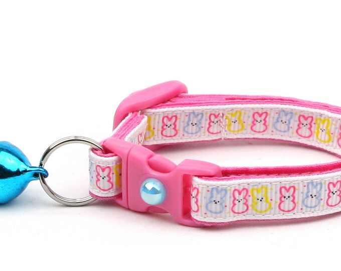 Easter Cat Collar - Easter Bunny Outlines - Kitten or Large Size