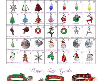 Collar Charms - Christmas Charms - Holiday - Extra Charms for Cat Collars - Bling - Jewelry