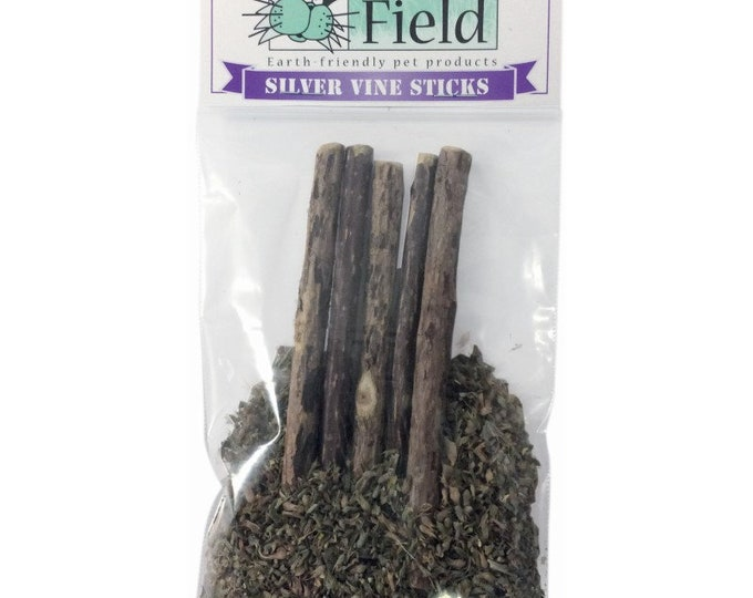 Silver Vine Sticks In Ultimate Blend - All Natural Cat Toy, Catnip Alternative Cat Treat, Cat Dental Chew