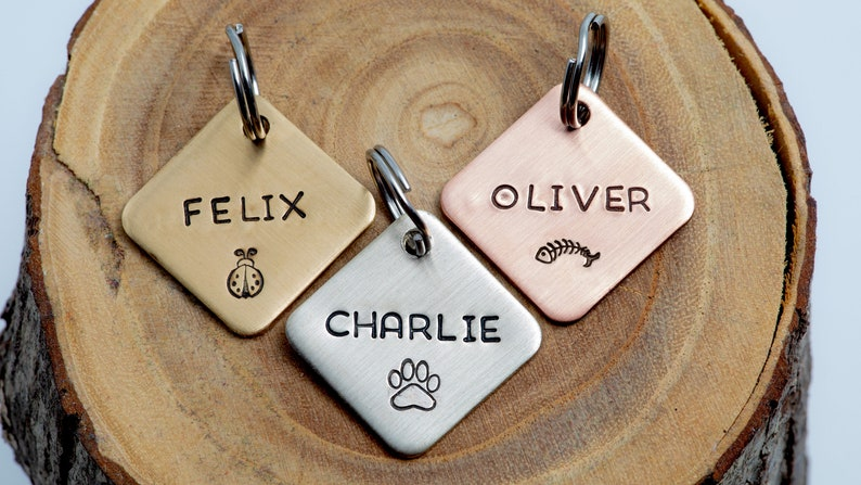 Pick your Design Pet ID Tag  Small Cat or dog Tag  image 0