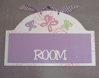Personalized Room Sign for Girls.
