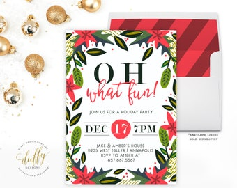 items similar to christmas party invitation holiday party invite
