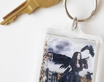 Raven Fairy Acrylic Key Chain - Corn Moon