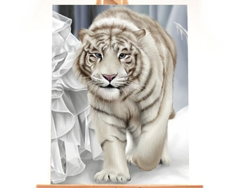 ACEO - White Tiger Limited Edition