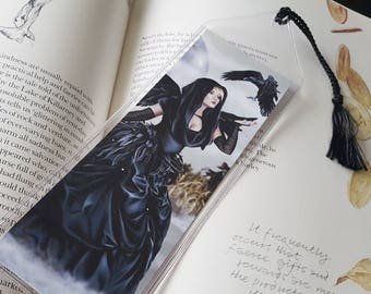 Bookmark Crow Raven Fairy - Corn Moon
