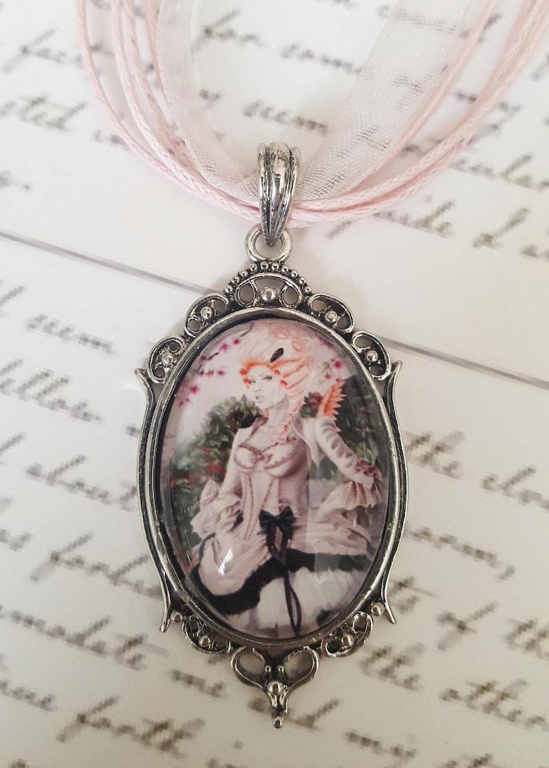 9047ccf39d48c Cameo Pendant - Pink Moon - Flamingo Fairy Necklace