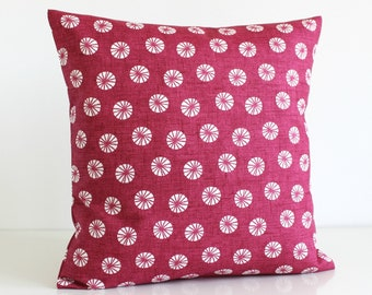 Decorative Pillow Cover, Cushion Cover, Pillow Case, Throw Pillow cover, Pillow Sham - Fossil Raspberry