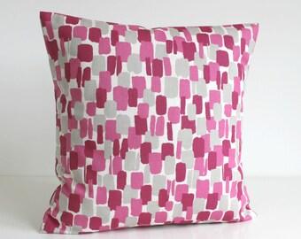 Decorative Pillow Cover, Scandi Pillows, Pink Pillow Cover, Pillow Sham, Pink Couch Pillows, Cushion Cover - Scandi Blocks Rose
