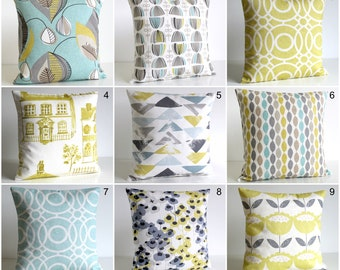 Decorative Pillow Covers Yellow Gray