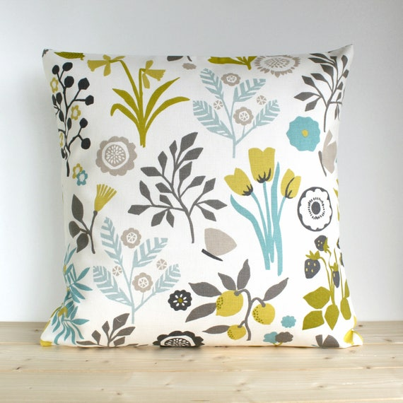 Flower Pillow Cover Cotton Pillow Case Floral Pillow Cover Etsy