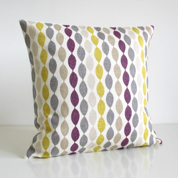 Purple And Citrus Pillow Cover 40x40 40x40 40x40 Etsy Stunning Aubergine Decorative Pillows
