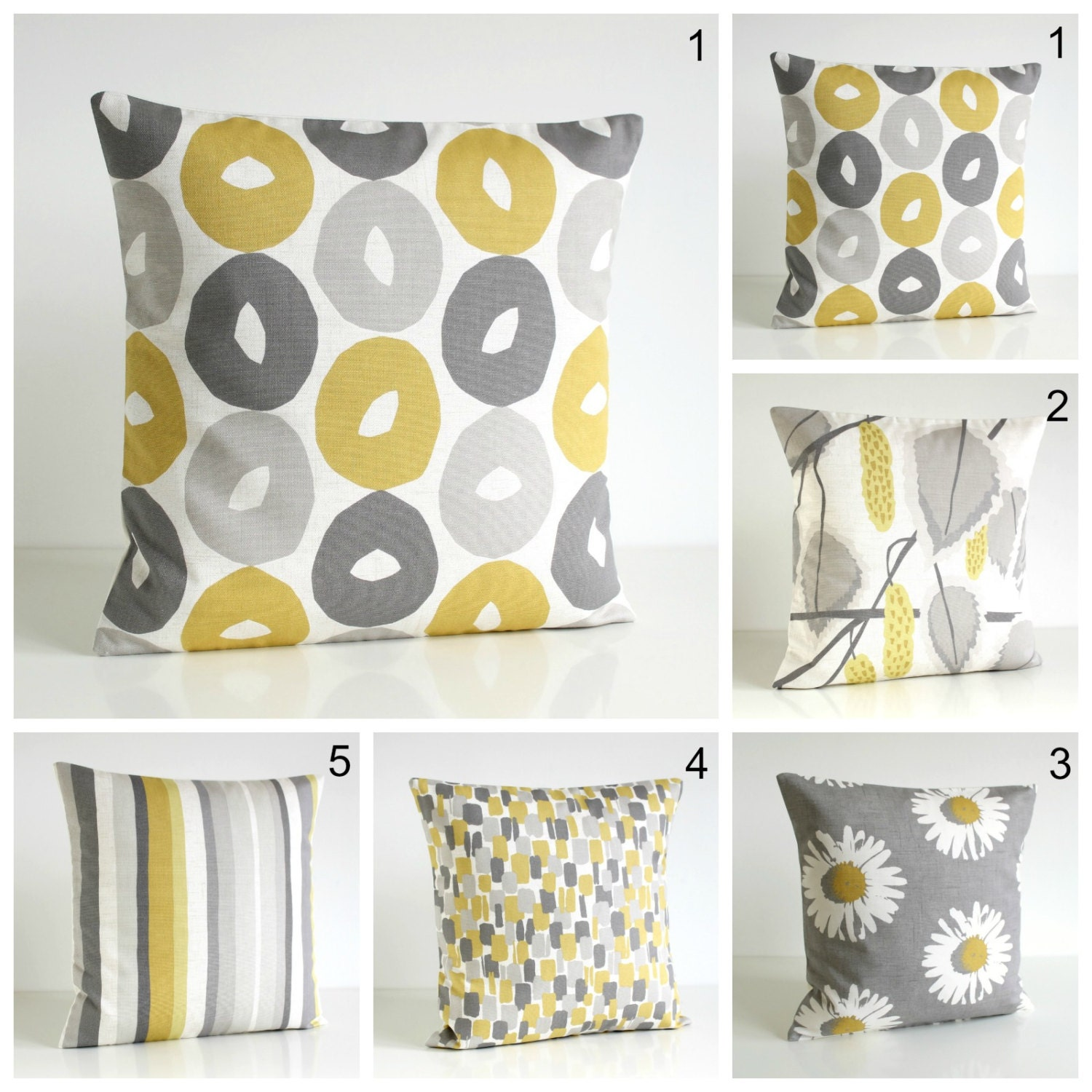 10x10 Pillow Cover Scandinavian Pillow Cover Yellow And Etsy