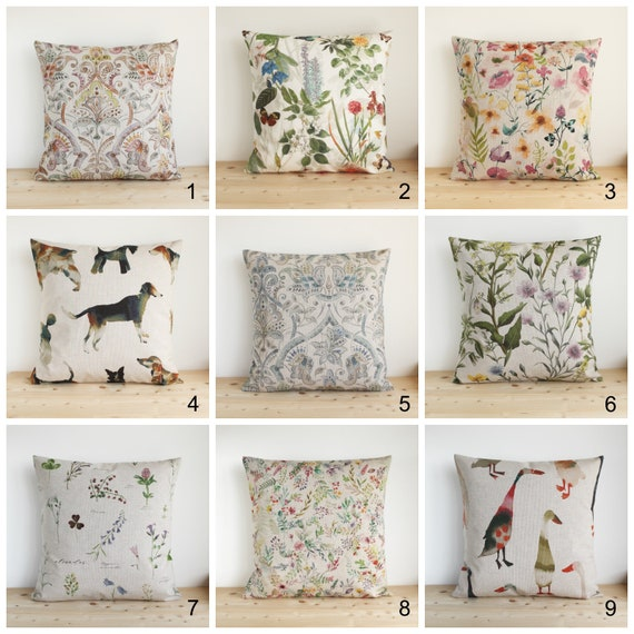 Case Shabby Chic Country.Linen Look Cushion Cover 10x10 Pillow Cover Shabby Chic Country Cottage Chic Pillow Sham Pillow Case Country Linen Collection