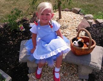 DOROTHY costume/Wizard of Oz Inspired Costume/Dorothy Tutu Costume