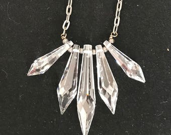 Clear Crystal drops adjustable chain