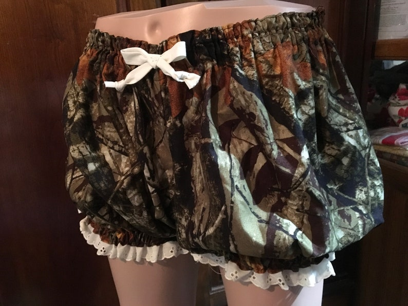 Womens Bloomers Pajamas Adult Blo9ners Sissies SALE-Plus Size Camo Print Bloomers Extra Large