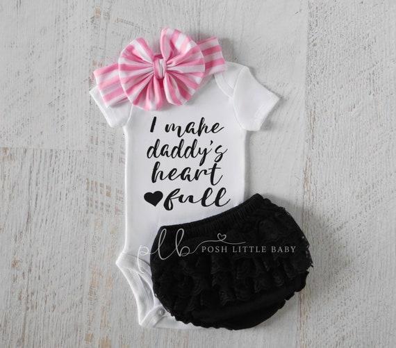 Bébé fille vêtements je fais de papa coeur plein fête des  766a2735295