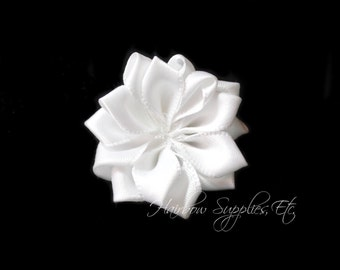White fabric flower etsy white dainty star flowers 1 12 inch white fabric flower white silk flowers white hair flowers white flower white flowers for headbands mightylinksfo