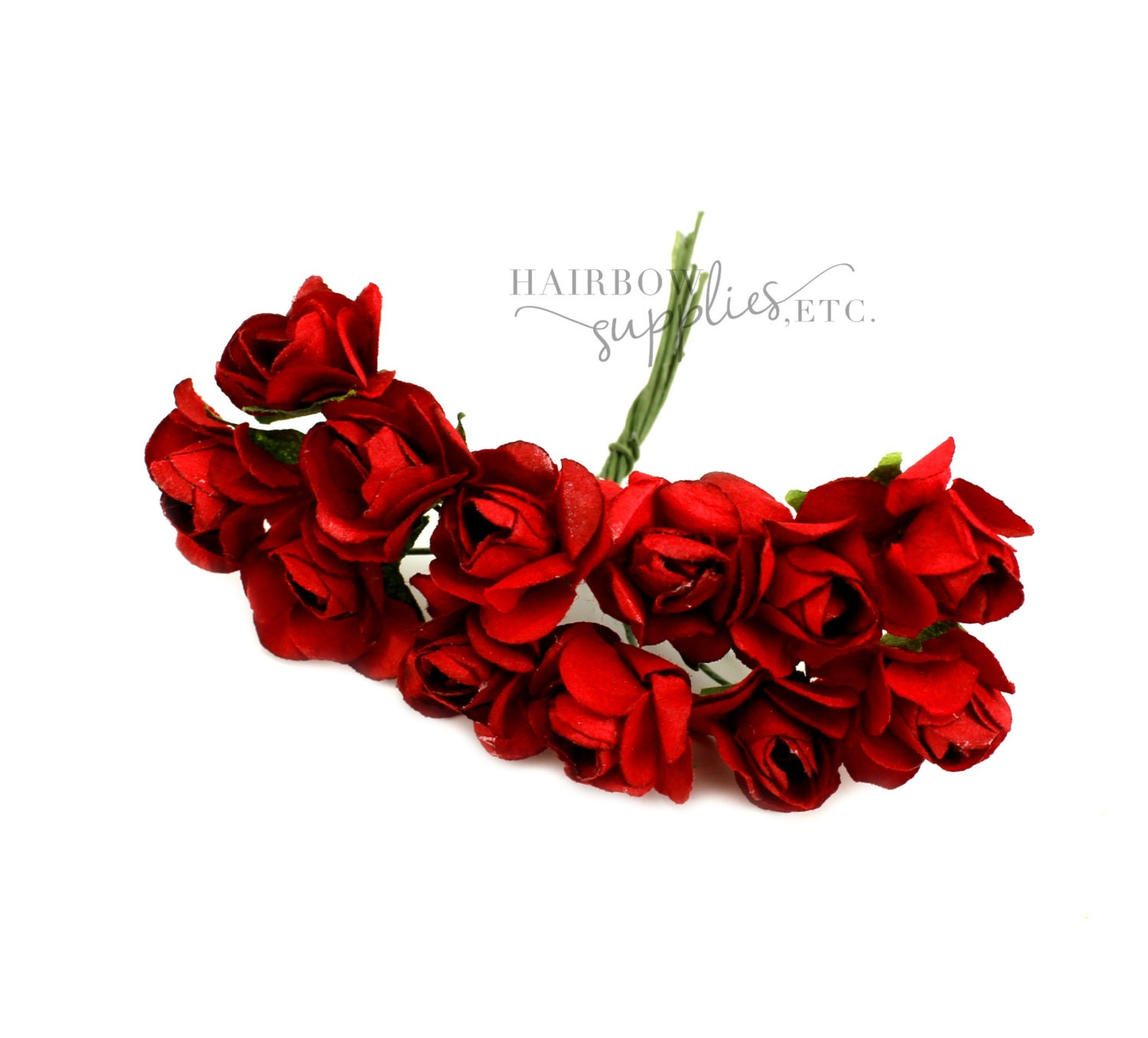 Dark Red Paper Flowers 34 Inch Crown Flower Headband Etsy
