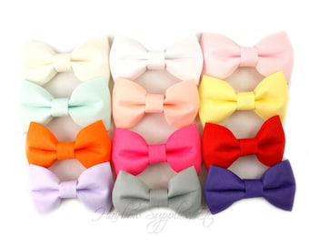 Fabric Bows 2.5 inch - Fabric Bow, Fabric Bow Tie, Hair Bows, Tuxedo Bow, Bows for Girls, Hair Bows for Girls, Hair Bows for Babies
