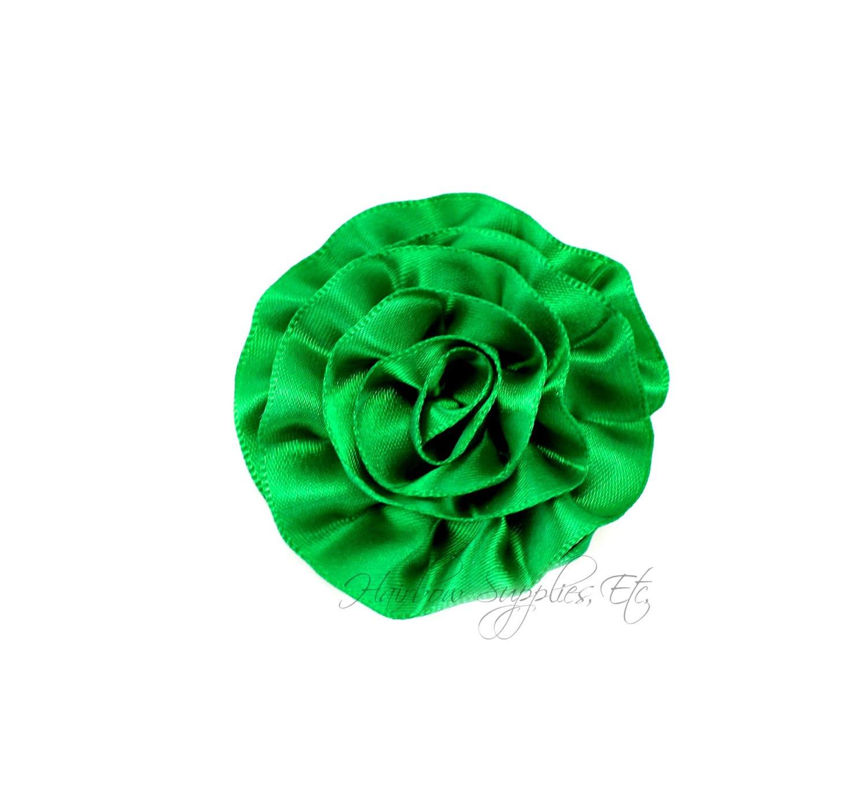 Green rose ruffle silk flowers 2 inch green flowers green etsy zoom mightylinksfo