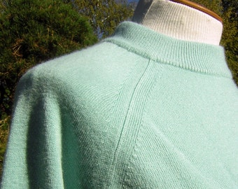 Vintage Sweater Robins Egg Aqua Blue XL Luxelon - Soft Warm - Mint Condition