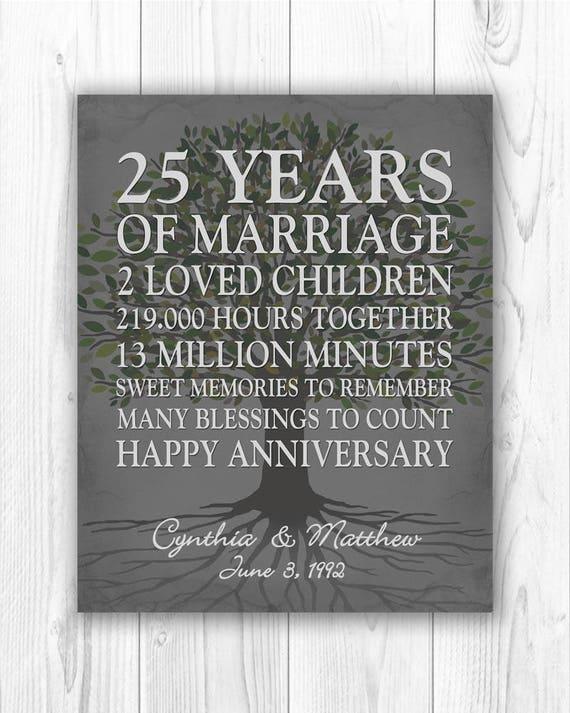 25th anniversary gift 25 year anniversary gift 25th wedding etsy