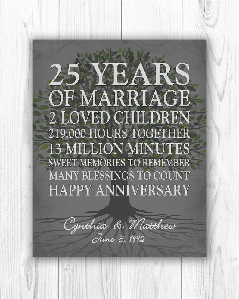 image 0 ...  sc 1 st  Etsy & 25th Anniversary Gift 25 Year Anniversary Gift 25th Wedding | Etsy
