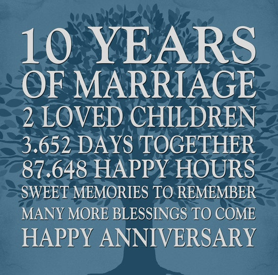10th Wedding Anniversary Gift 10th Anniversary Gift 10th Etsy