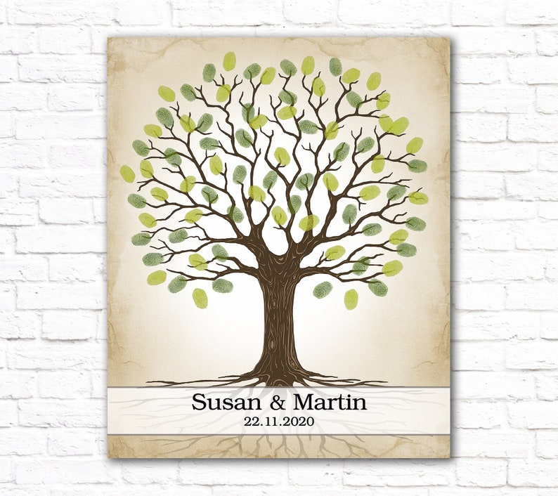 Birthday Tree Bridal shower Family reunion Custom Wedding Guest Book painting Personalized guestbook