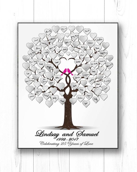 25 Jahrestagsgeschenk 25 Hochzeitstag Geschenk Etsy