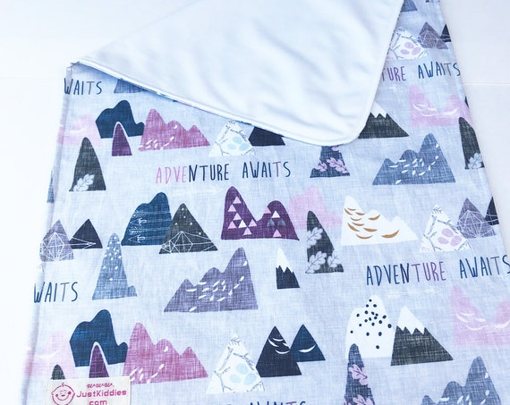 Changing mat, changing pad, travel changing mat, diaper changing, nappy, waterproof changing mat, Adventure Awaits, kona cotton
