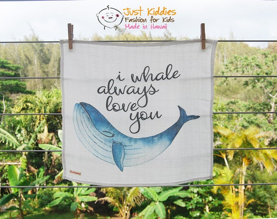 LOVEY or BLANKET * WHALE * Organic Cotton Double Gauze * Security Blanket *