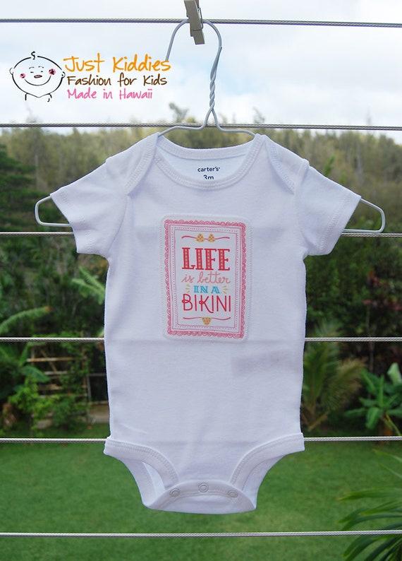 Onesie * Life is better in a Bikini * Applique * Bodysuit * Baby Gift * Customized * Newborn