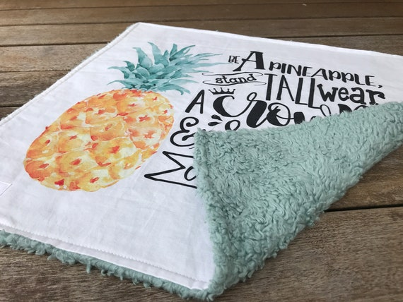 LOVEY * PINEAPPLE * Kona Cotton * Organic Sherpa * Security Blanket * super soft * Organic