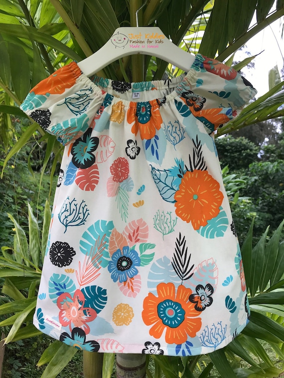 JANEY DRESS - cotton - tropical flowers