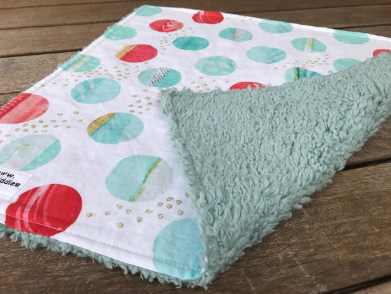 LOVEY * DOTS * Kona Cotton * Organic Sherpa * Security Blanket * super soft * Organic