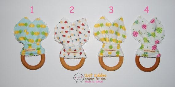 BABY TEETHERS - Teething Toys - Wooden Teething Toys - Wooden Teething Ring - Baby Teething Ring - Pineapple
